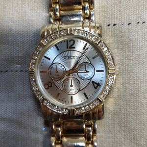 Chicos gold boyfriend style watch